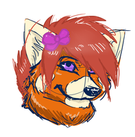 red panda fur sketch by werespyro