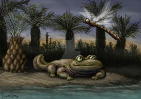 Carboniferous Fat Amphibian by olofmoleman