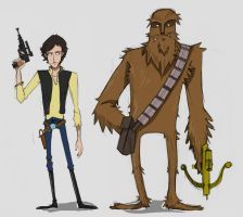 Han and Chewie by DOGiukas