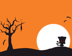 Free Halloween Card Design by kawaii-oekaki-chan