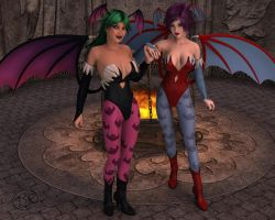 Morrigan And Lilith by WilliamRumley
