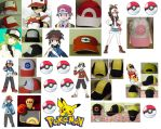 Hand Painted Pokemon Hats Updated by SailorUsagiChan