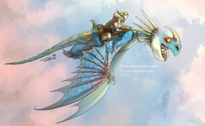 Httyd 2 Astrid and Stormfly by Ticcy