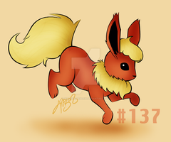 Pokemon--Flareon by PirateQueenErin