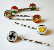 Hetalia Hairpins by sammich