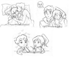 :Legend of Korra: Korra+Bolin Sketch Dump by TheYumeNoInu
