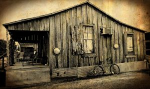 Bicycle and a Shack in the Cotton Fields by SHParsons