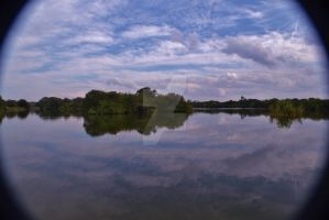 Peaceful lake on a beautiful day by ArtieWallace