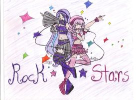 CE: Violet and Aura Rock Stars by EmoSandy93