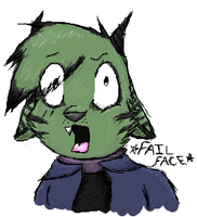Fail Face by Wolfy-Artist