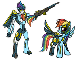 Commission: Transmetal 2 Rainbow Dash by Atomic-Chinchilla