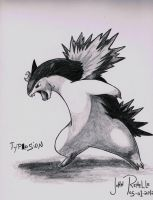 Typhlosion by johnrenelle