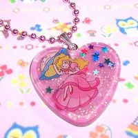Super Princess Peach Necklace by bapity88
