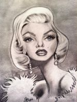 Marilyn Monroe Caricature by lotus73