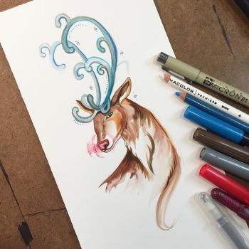349- Rudolph Sketch by Lucky978