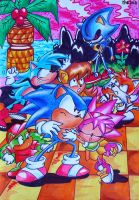sonic tenemos miedo by TheEvaFAN