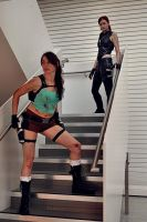 Lara Croft and The Doppelganger by Athora-x
