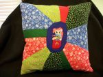 Pinkie Pie Handmade Custom Patchwork Pillow by grandmoonma