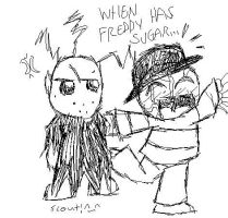 Freddy Krueger and sugar ... by scouteh