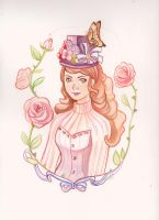 hat girl by audreymolinatti