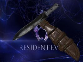 RE 6 CHRIS KNIFE AND HOLSTER by Oo-FiL-oO