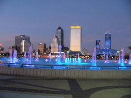 Jacksonville Florida Skyline December 2011 by cdbmiles1