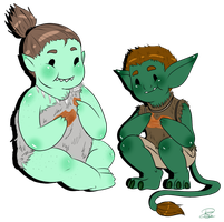 Orc and Troll by MissPomp