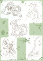Misc Sketches by Agaave