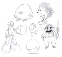 Video Game Icons 01 by borogove13