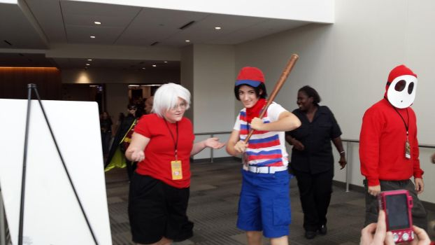 Matsuricon 2016- Ninten and Lloyd by jayemeraldover9000x