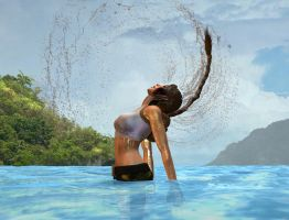 pacific coasts Lara Croft  tropic lagoon dive III by 7ipper