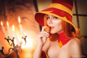 Lina in hat - Dota 2 cosplay by LuckyStrike-cosplay