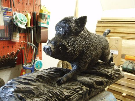Woodcarver Wildboar 1a by woodcarve
