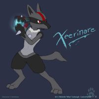 Xeerinare the Lucario by CanineHybrid