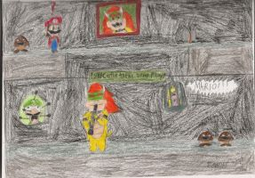 Bowser's Castle Mishap by daisyplayer1