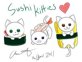 Sushi Kitties by FrauV8