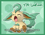 Eeveelutions: Chibi Leafeon by Veemonsito