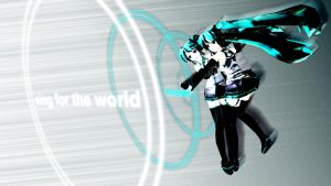 Vocaloid - Sing for the world Wallpaper by Emosoftwere