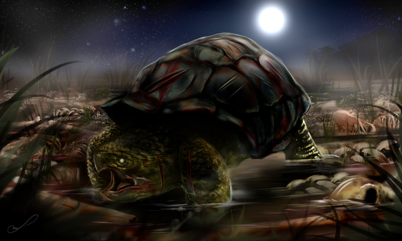 Commission #16: The Man-Eater Tortoise by Martith