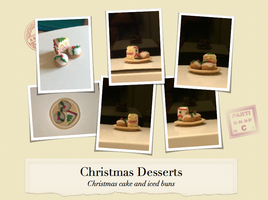 Christmas desserts by BeeTrue