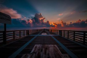 Pier Sunrise by RoyalImageryJax