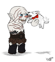 HOBBIT: Azog the De-Flea-er by Kumama