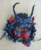 Red Serpentine Dragon Mask by merimask