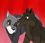 Wolfy Love by SolitaryGrayWolf