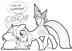 Everypony Conga-regate! by ABronyAccount