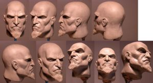 Kratos Maquette Head by loqura