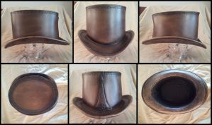 Leather Top Hat Mk2 by Daerevon