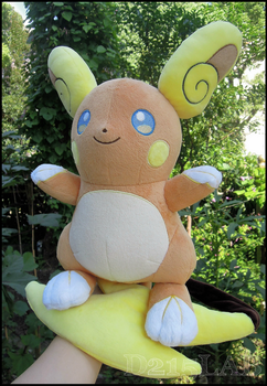 Alola Raichu Plush by d215lab
