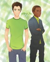 Request: Psych - Shawn+Gus by rHyme-iN-wOnderLand