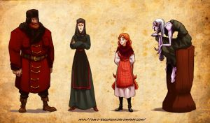 Fairy Tale Characters by davi-escorsin